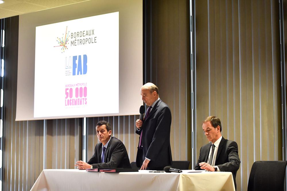 Charte 50 000 logements : <br />opérateurs logement / Bordeaux Métropole / La Fab : c'est signé !